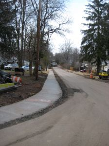 New sidewalks on Ewing St