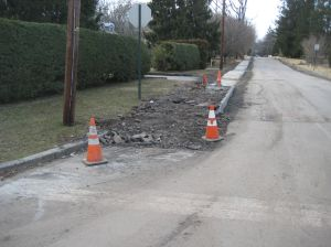 New sidewalk construction at Ewing Street, Princeton.