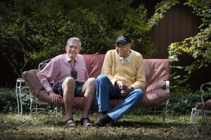 Len Newton and James Floyd, at Len's home in Princeton in 2012