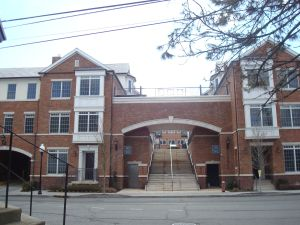 The Residences viewed from Paul Robeson Place