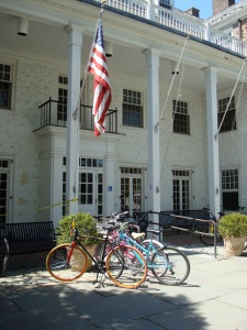Bicycles in Princeton: not as widely used as in other College towns.