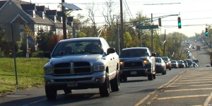 Hwy 27 traffic heading towards Princeton, April 2013