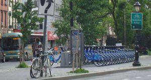Citibike station, Spring St, Manhattan
