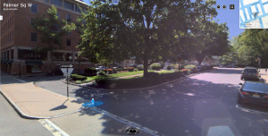 Palmer Square on a regular day, via Bing Maps
