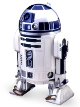 R2D2 robot from 'Star Wars'.