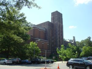 The McCarter theater, as seen from directly across the street at the current Princeton Station.