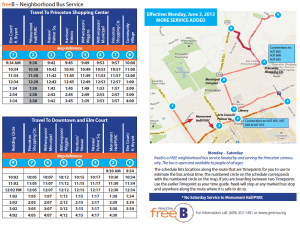 FreeB Neighborhood Service Timetable and Route Map. Click to Expand.