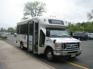 Princeton's FreeB 'Community Shuttle' at Princeton Shopping Center.