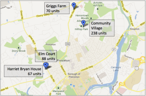 Princeton Community Housing operates at four major sites in Princeton.