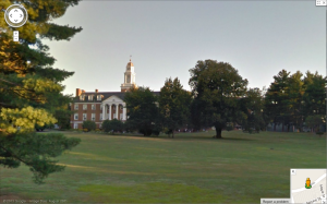 Westminster Choir College, Princeton, seen from Google Street View. (Click to expand.)
