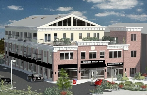 A rendering of the proposed redevelopment of the 255 Nassau site. (Image courtesy of