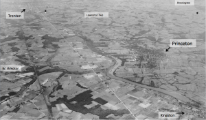 Princeton is totally surrounded by farmland in this historic aerial photo. (Click to expand, photo credit: )