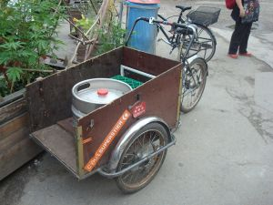 A keg on wheels in Christiania. (Click to expand)
