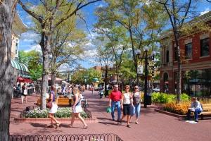 Boulder's amazing pedestrianized Pearl Street Mall.