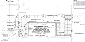 Site plan of the proposed 255 Nassau St development, showing proposed parking at front, sides and rear of the building. (Click to expand.)