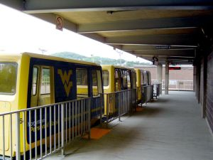 Personal Rapid Transit (PRT) system in Morgantown, WV. Image attribution: Brian M. Powell (Click to expand.)