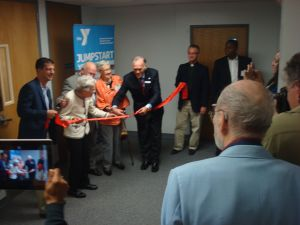 Jim and Nancye Fitzpatrick cut the ribbon on the new YMCA Wellness Center. (click to expand.)