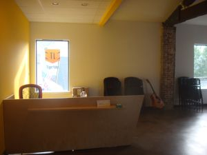 Reception area for Princeton's TigerLabs. (Click to expand.)