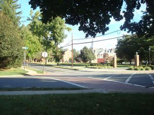 'Brick' crosswalk near Westminster Choir College in Princeton. (Click to expand.)