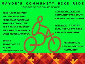 Official poster for Mayor's Bike Ride. (Click to expand.)