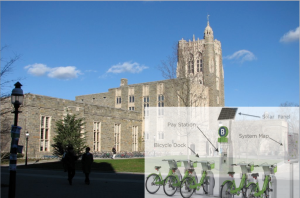 What bikeshare might look like when Princeton University launches its scheme in the coming years. But will Princeton town residents and other students be able to use the system? (Click to expand.)