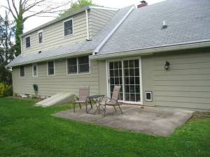 Back yard at 32 N Harrison Street, Princeton (click to expand.)