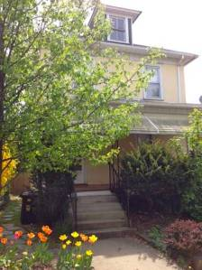 This 3-bed, 3-ba house in the John-Witherspoon neighborhood is available for rent at $2,100 per month. (click to expand.)