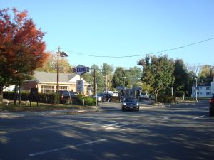 The old Delta gas station at Alexander and Faculty Road on a quiet Sunday afternoon. But rush hour traffic is expected to become overwhelming in the near future. (Click to expand.)