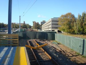 Princeton's Dinky Line has been severed half-way along Alexander Street. Can another transit mode replace cars for people trying to reach downtown? (click to expand.)
