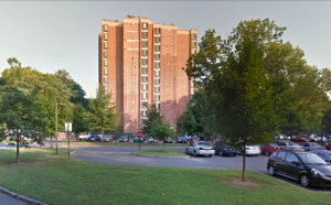 Lawrence Apartments, Princeton University graduate housing, on West Drive. (Click to expand, image from Google Maps).