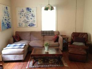 Living room at Birch Avenue house for rent. (click to expand.)