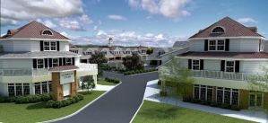Rendering of mixed-use village in West Windsor. Via NJ.com  (click to expand.)