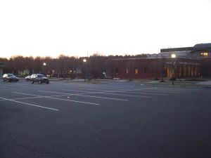 Municipal lot at Community Park pool in Princeton sat empty as people fought for parking 0.5 miles away. (Click to expand.)