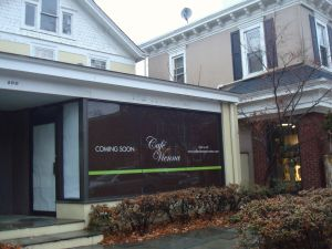 Site of soon-to-open Café Vienna, on Nassau Street in Princeton. (click to expand.)