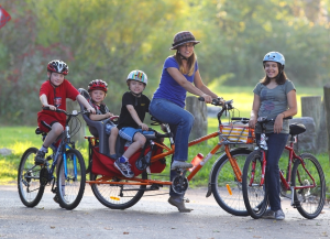 This family from Buffalo, NY lives car-free year-round. (Click to expand.)