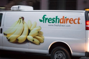 Fresh Direct van for grocery delivery. (click to expand.)