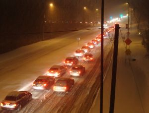 Jersey traffic stuck in snow, Jan 21, 2014. (click to expand.)