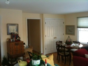 Living room in home for rent at Henderson Avenue in Princeton. (click to expand.)