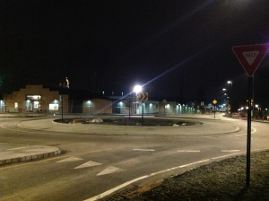 New roundabout at Alexander Street in Princeton. (Click to expand.)