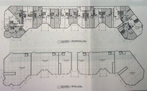 Floor plan of residential level of Building 1 in proposed 'Ellsworth II' redevelopment. (click to expand.)