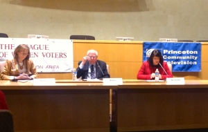 Princeton Council candidates (left to right) Jo Butler, Bernie Miller, and Sue Nemeth at the recent candidate forum. (Click to expand.)