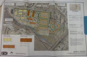 Site plan for Toll Brothers mixed use development at Bear Brook Road in West Windsor. (click to expand.)