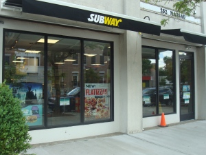 New Subway sandwich store at 252 Nassau Street in Princeton. (click to expand.)