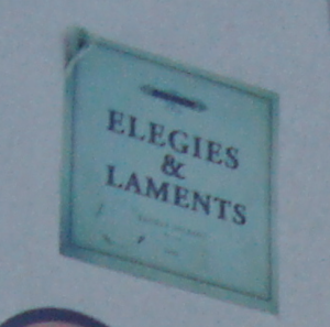 'Elegies and Laments'