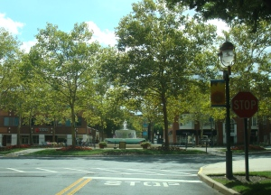 Village Boulevard at Princeton Forrestal Village. (click to expand.)