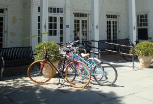 Bicycles at Forbes College, Princeton. (click to expand)