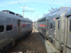 Princeton shuttle and NE Regional NJ Transit line at Princeton Junction station. (click to expand.)