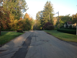 Poe Road in Princeton between Random Road and Route 27, where sidewalks are due to be added. (click to expand)