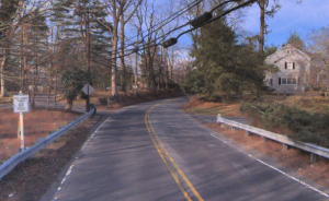 Cranbury Road (CR615) in West Windsor. (via Bing Maps, click to expand).
