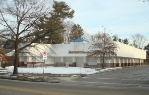 The Old West Coast Video Site at East Nassau Street in Princeton, which may become a 7-11. (click to expand.)